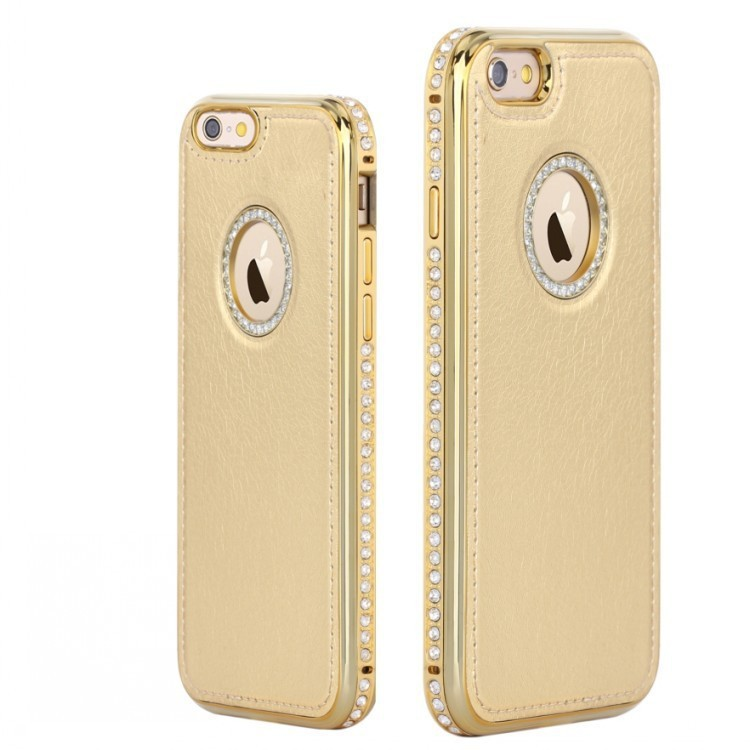 Mobile phone shell diamond pattern case for iphone6 mobile phone case PU leather cover