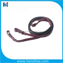 Top quality horse harness racing reins be made of synthetic coated webbing