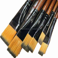 New product 6pcs per set brown nylon hair artist brush for acrylic paint brush