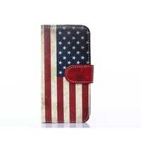 Retro Vintage US Flag Pattern Wholesale Mobile Phone Leather Case for Apple iphone 6, Bulk Sale Phone Case for Apple iphone 6