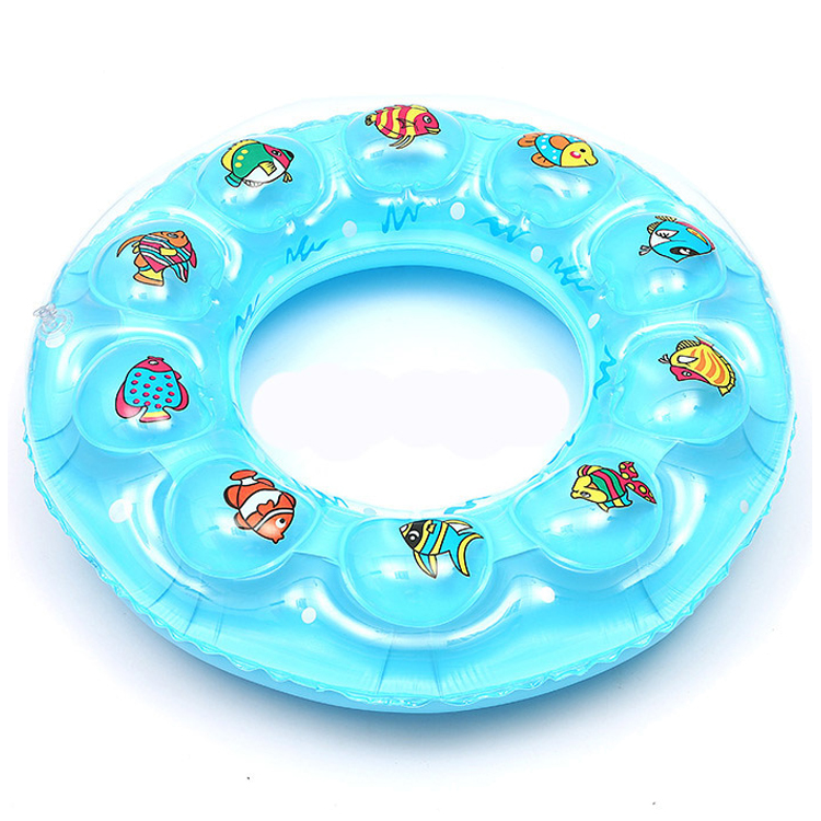 Double thickening custom PVC plastic safety inflatable quartz baby swim ring
