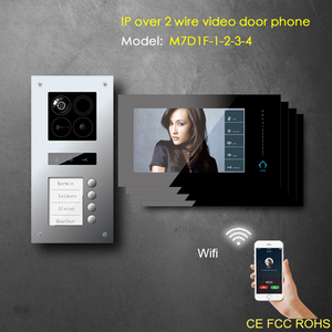 Support motion detection modular design multi apartments video door phone