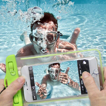 2017 Factory Price Transparent PVC Waterproof Pouch/Heat Seal Waterproof Bag/Swimming Mobile Phone Bag