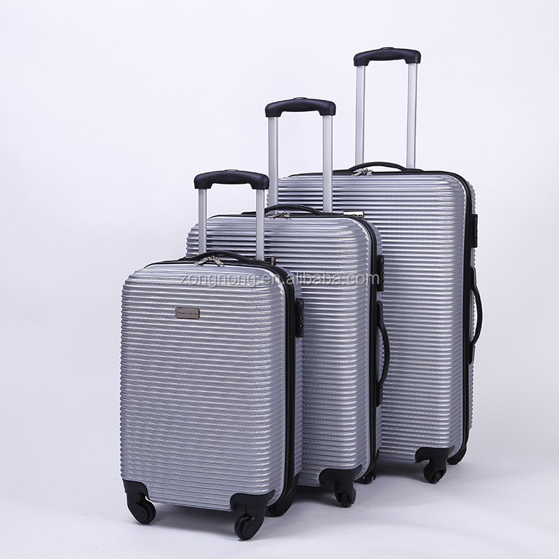 Wholesale quality 20 24 28inch <strong>ABS</strong> 3pcs trolley luggage set