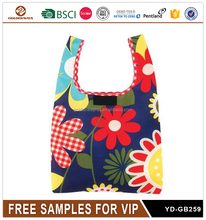 Cute Flower Printed Canvas Tote Bag Good Quality