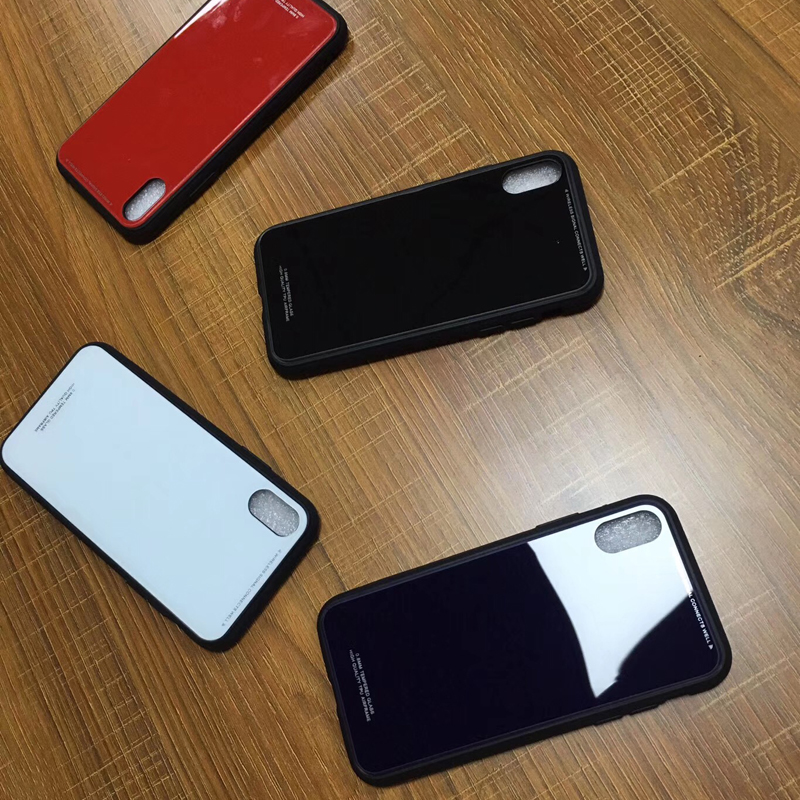 Unique Design tempered glass back cover case for iphone x protective case