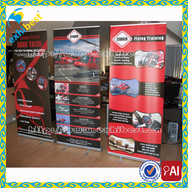 marketing and promotional materials outdoor roller banner