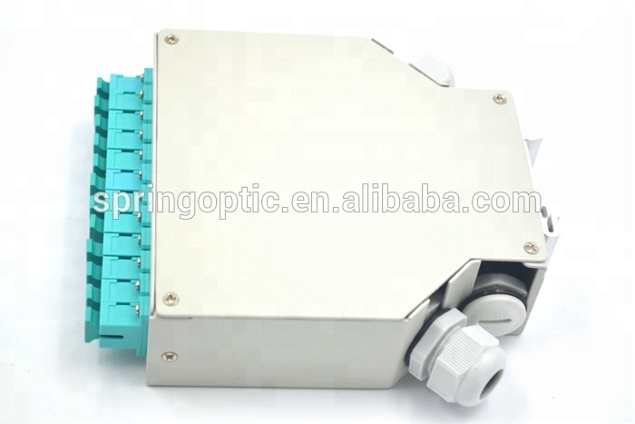Hot selling FTTH 12Core SC OM3 DIN Rail Fiber Mounting Enclosures