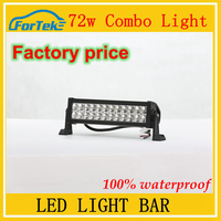 72W led light bar 12 inch led strobe light bar for off road