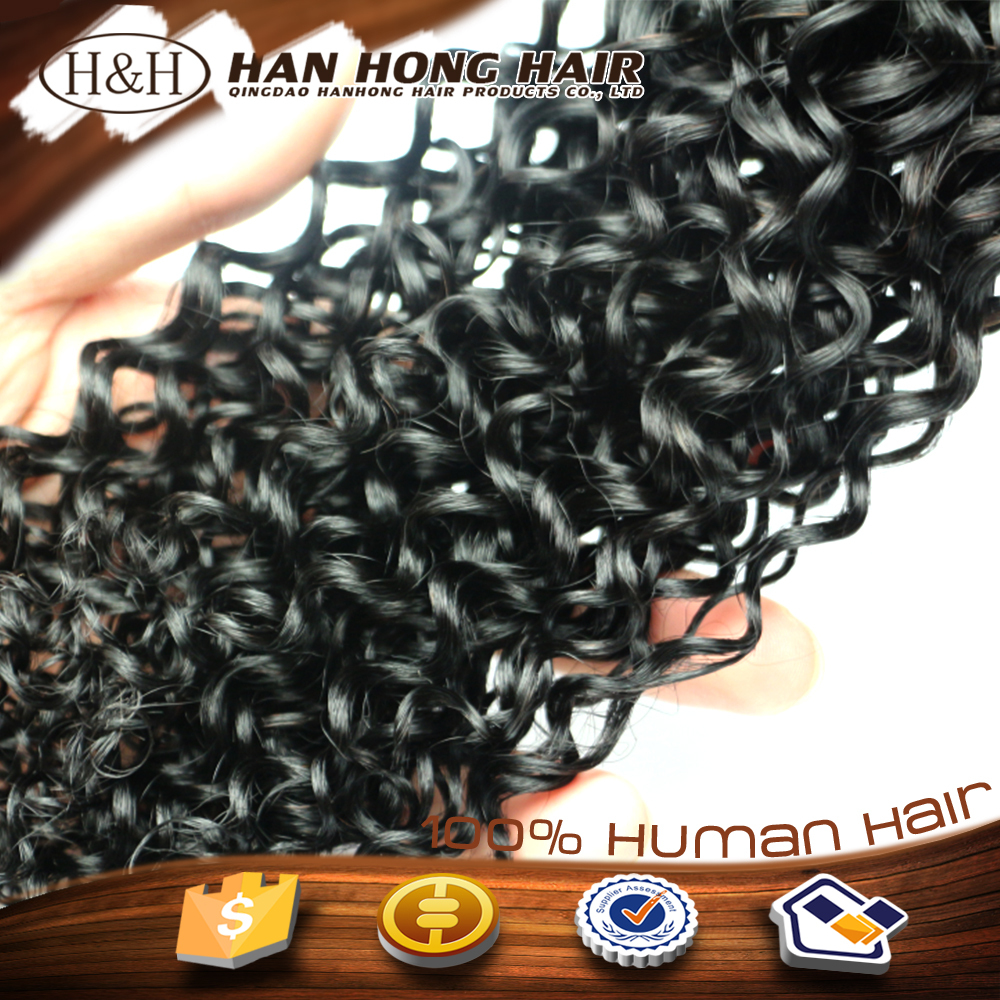 high quality virgin afro kinky spanish wave three head hair weft machine