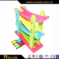 Wooden classical ramp wooden sliding car toy for kids wooden toy car