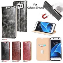 Luxury Flip Leather Wallet Case Card Slots Stand Cover For Galaxy S7 Edge