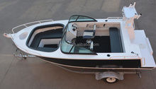 hot sales high quality press boat 5m 17ft aluminum leisure fishing bowrider