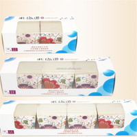 Cupcake box clear window bakery package box