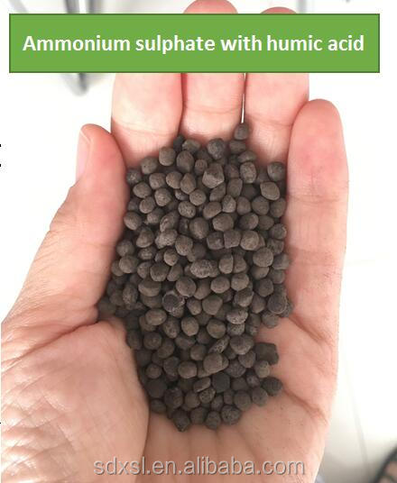 Black granular ammonium sulphate contains humic acid