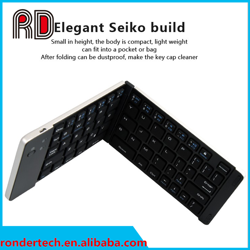 New 2016 folding wireless bluetooth keyboard for pc laptop