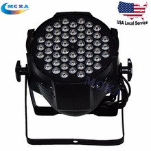 54*3w led par lights led disco 5in1 led par light with rotating barn doors