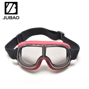 Retro motorcycle goggles metal and ABS frame mx motorcycle glasses