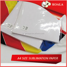 Heat transfer printable paper for Eco-solvent ink for light dark graments factory supply
