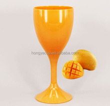 300ml Plastic Transparent Wine Globlet Thick-walled wine Glass