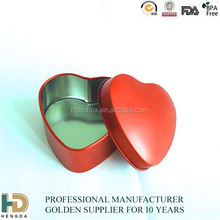 2014 fashion valentine's day heart shaped gift tin cans box