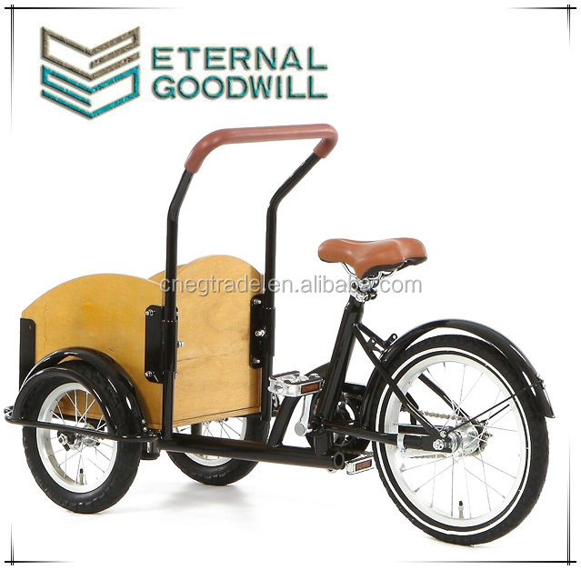 Carton tricycle two front wheels pocket bike single speed child cargo bikes//bakfiets/cargobike UB9035