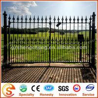 Fixable & anti-rust stee garden gate galvanized steel gates grill design