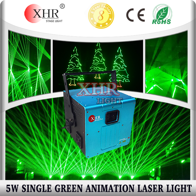 Green Laser 5000mw ILDA Outdoor Disco Laser Light Logo Projector