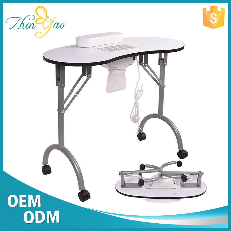 Folding Portable Manicure Table Nail Table Shop With Vent / Fan