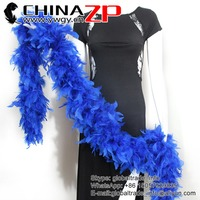 Gold Supplier ZPDECOR Bulk Sale 150 Gram Weight Cheap Colored Royal Blue Turkey Feathers Chandelle Boas