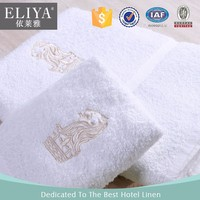 100% Cotton Luxury 5 star Embroider Logo in Hotel Towel Sets