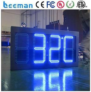 humidity time signage board 5 inch led sign board 7 segment led large digital wall clock time display