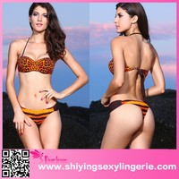 2015 cheap Orange Leopard Bikini Swimwear hot photo