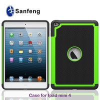 chinese manufacture dual layer for ipad mini 4 protective case