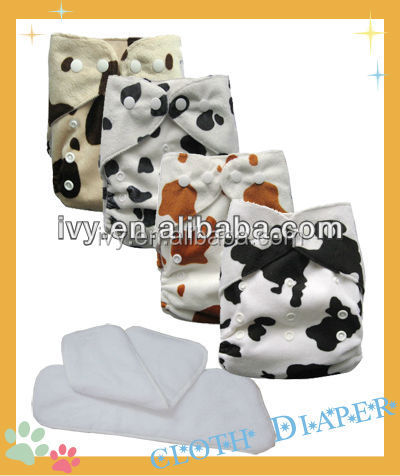 Printing Minky Sunny Disposable PUL Waterproof Fabric Baby Cloth Diapers