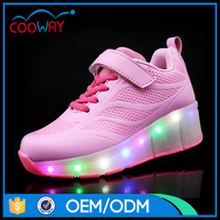 Pink Mesh sports shoes led TRP soles roller skate shoes