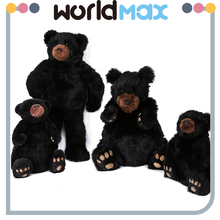 Top Selling And Lovely Present Black Bear Oem Plush Toys
