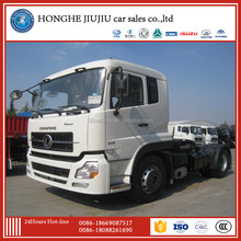 dongfeng tianlong flat top 4X2 340hp tractor truck for low price