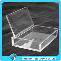 flat shaped special style 5mm acrylic box clear plexiglass perspex candy gift box china hottest product gift box MOQ