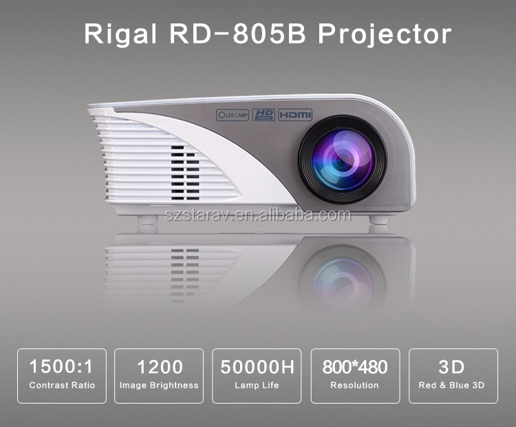 RD805 LCD LED projector portable home cinema proyector 1000:1 with TV turn VAG hub