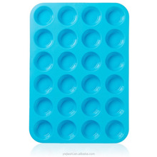 Mini Muffin Pans - 24 Cup Jumbo Silicone Pan for Cupcakes and Premium Baking - Non Stick Tray