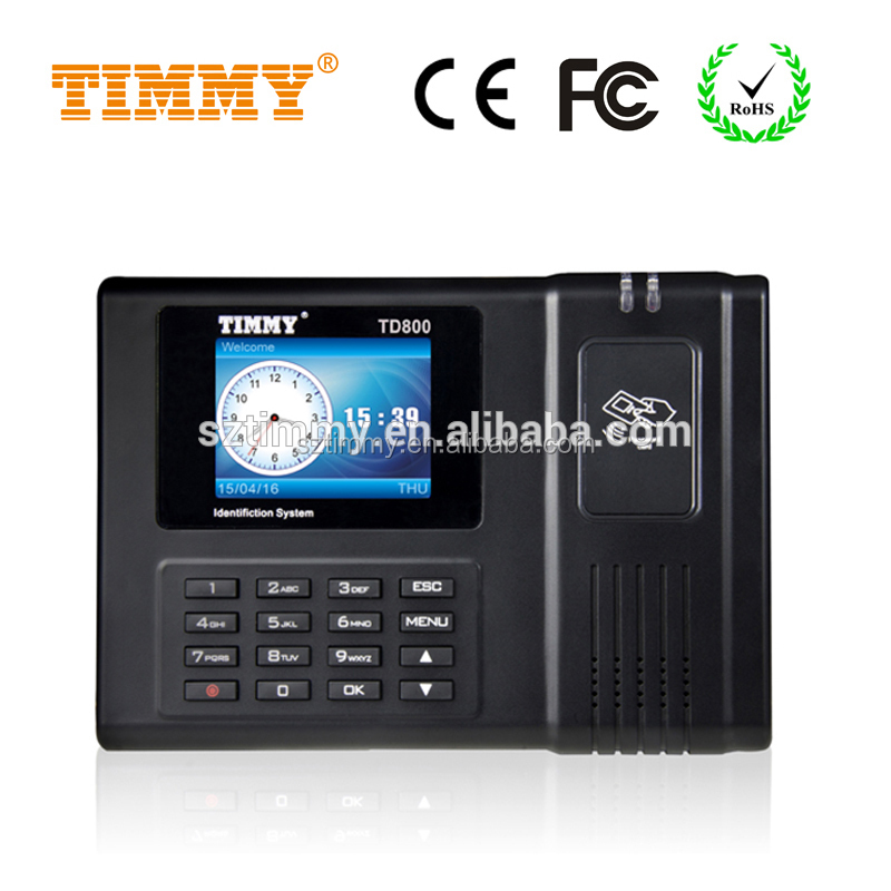 TIMMY RFID Punch Card Time Attendance Machine