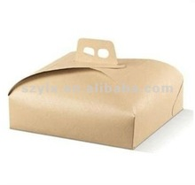custom cake boxes brown paper