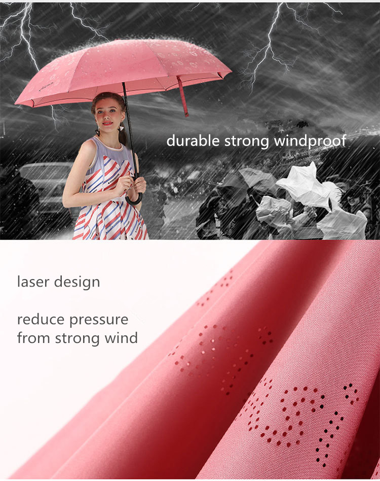 Factory Wholesale UV Protection Double Layer Umbrella Upside-down, Outdoor Rain Umbrella Reversible