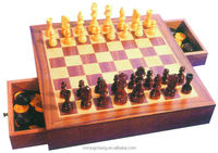indoor games wooden chess board game set