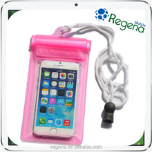 cell phone waterproof bag for iphone 6 plus, PVC bag for swimmig