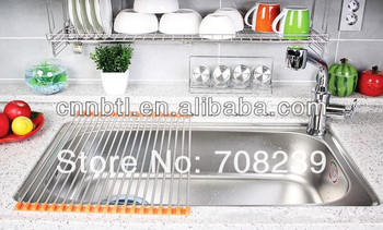 304 Stainless Steel Kitchen Folding Drain Rack