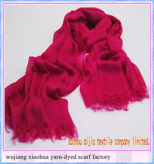 new Fashion Long 100% polyester solid colour chevron infinity scarf