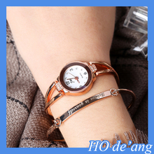 HOGIFT classic design quartz watch diamond stainless steel Rose Gold watch