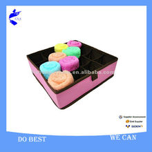 Convenient!! Solid Polyester Fabric Sock and Underware Storage Box